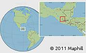 Savanna Style Location Map of Huehuetenango