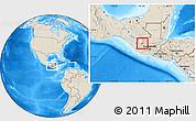Shaded Relief Location Map of Huehuetenango