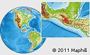 Physical Location Map of Huehuetenango