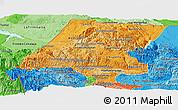 Political Shades Panoramic Map of Huehuetenango