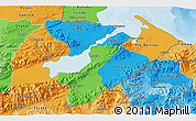 Political 3D Map of Izabal, political shades outside