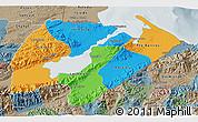 Political 3D Map of Izabal, semi-desaturated