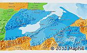 Political Shades 3D Map of Izabal