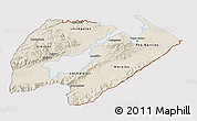 Shaded Relief 3D Map of Izabal, cropped outside