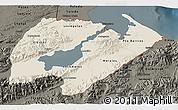 Shaded Relief 3D Map of Izabal, darken