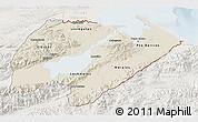 Shaded Relief 3D Map of Izabal, lighten