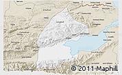 Classic Style 3D Map of El Estor