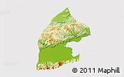 Physical 3D Map of El Estor, cropped outside