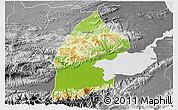 Physical 3D Map of El Estor, desaturated