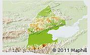 Physical 3D Map of El Estor, lighten