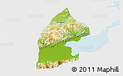 Physical 3D Map of El Estor, single color outside