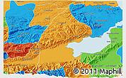 Political 3D Map of El Estor