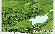 Satellite 3D Map of El Estor