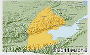 Savanna Style 3D Map of El Estor