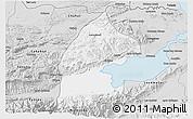 Silver Style 3D Map of El Estor
