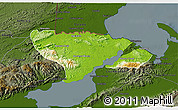 Physical 3D Map of Livingston, darken