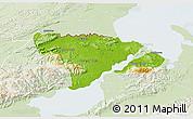 Physical 3D Map of Livingston, lighten