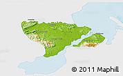Physical 3D Map of Livingston, single color outside
