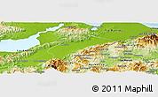 Physical Panoramic Map of Morales