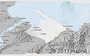 Gray 3D Map of Pto. Barrios