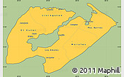 Savanna Style Simple Map of Izabal, cropped outside