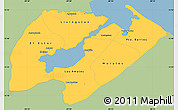 Savanna Style Simple Map of Izabal, single color outside