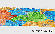 Political Shades Panoramic Map of Jalapa