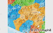 Political Shades Map of Jutiapa