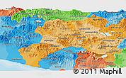 Political Shades Panoramic Map of Jutiapa