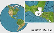 Blank Location Map of Guatemala, satellite outside
