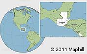 Blank Location Map of Guatemala, savanna style outside