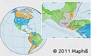 Gray Location Map of Guatemala, political outside