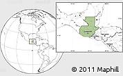 Savanna Style Location Map of Guatemala, blank outside