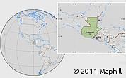 Savanna Style Location Map of Guatemala, lighten, desaturated