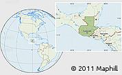 Savanna Style Location Map of Guatemala, lighten
