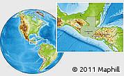 Savanna Style Location Map of Guatemala, physical outside