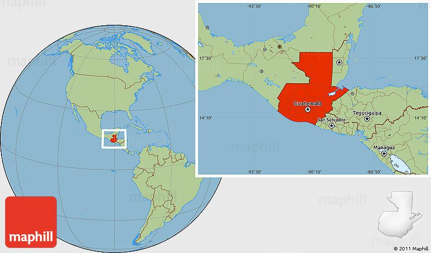Savanna style location map of guatemala publicscrutiny Choice Image