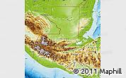 Physical Map of Guatemala