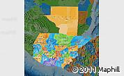 Political Map of Guatemala, darken