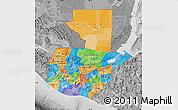 Political Map of Guatemala, desaturated