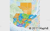 Political Map of Guatemala, lighten