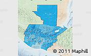 Political Shades Map of Guatemala, lighten
