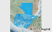 Political Shades Map of Guatemala, semi-desaturated