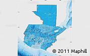 Political Shades Map of Guatemala, single color outside