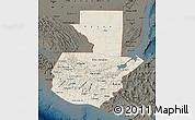 Shaded Relief Map of Guatemala, darken