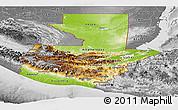 Physical Panoramic Map of Guatemala, desaturated