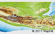 Physical Panoramic Map of Guatemala