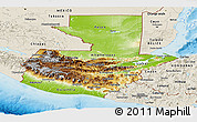Physical Panoramic Map of Guatemala, shaded relief outside