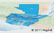 Political Shades Panoramic Map of Guatemala, lighten