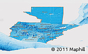 Political Shades Panoramic Map of Guatemala, single color outside